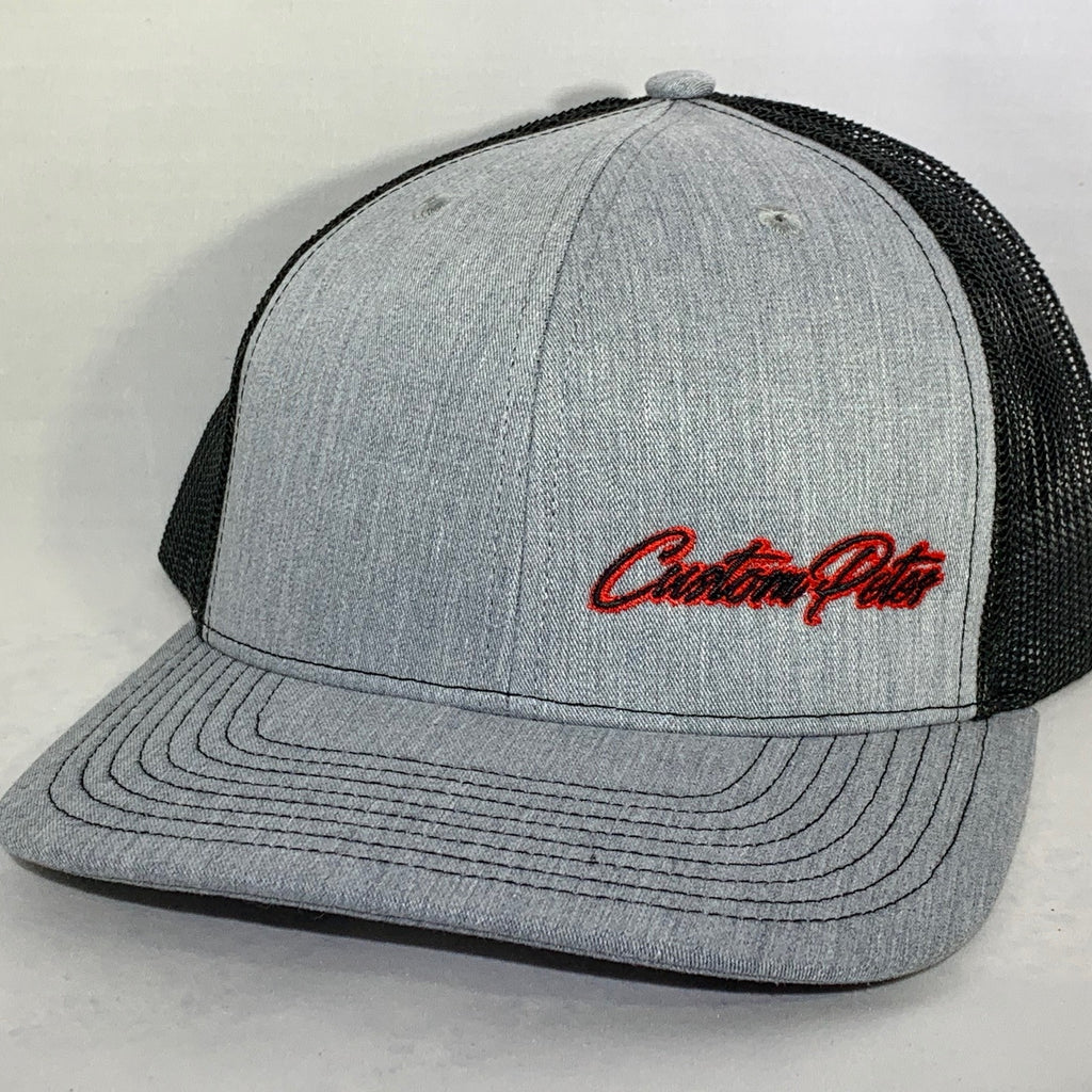 Custom Petes Trucker Hat (Gray/Red)