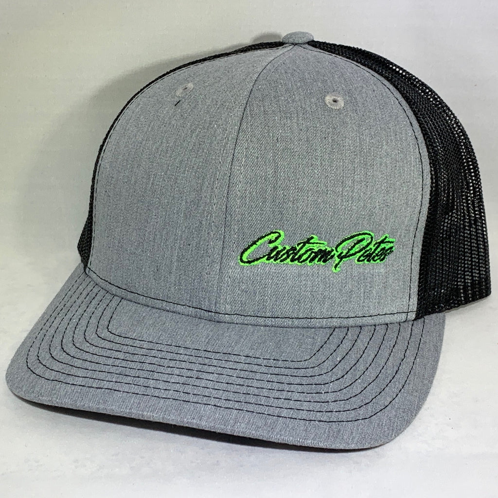 Custom Petes Trucker Hat (Gray/Green)
