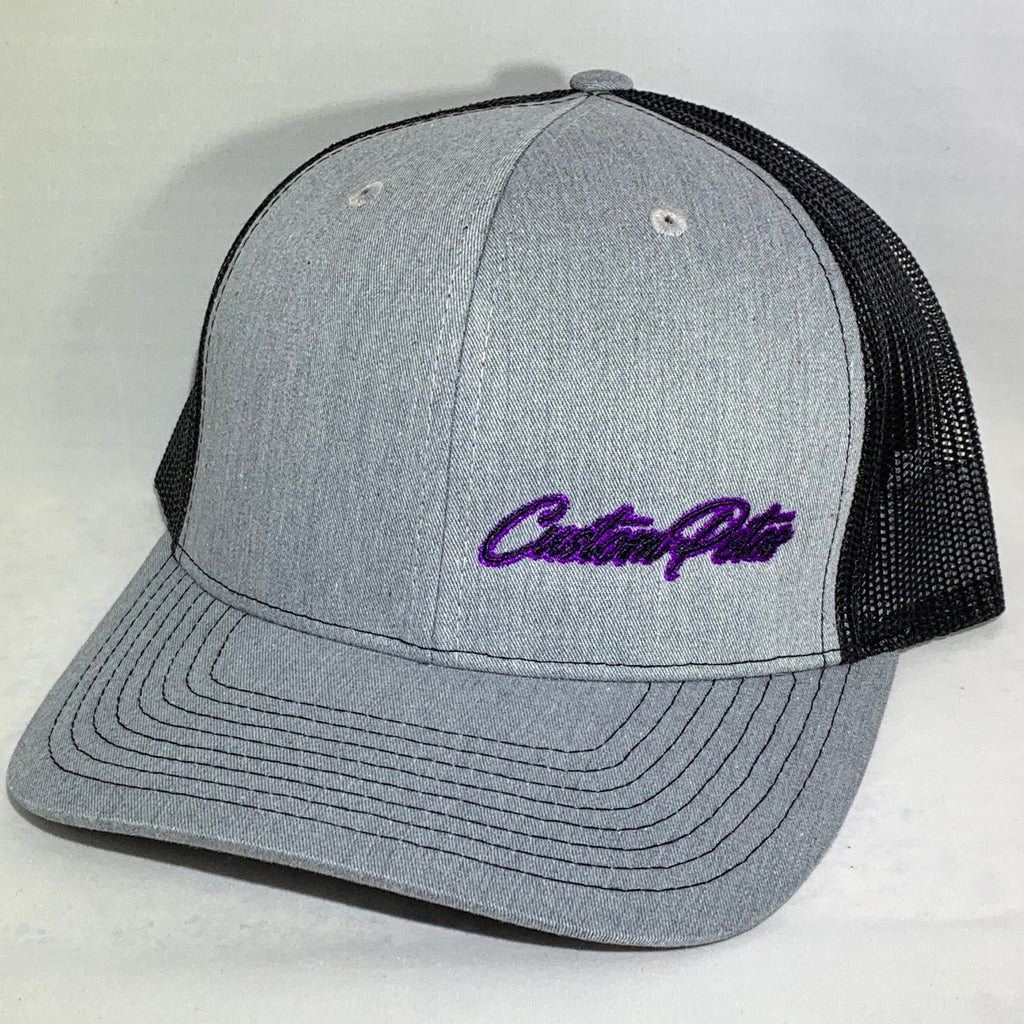 Custom Petes Trucker Hat (Gray/Purple)