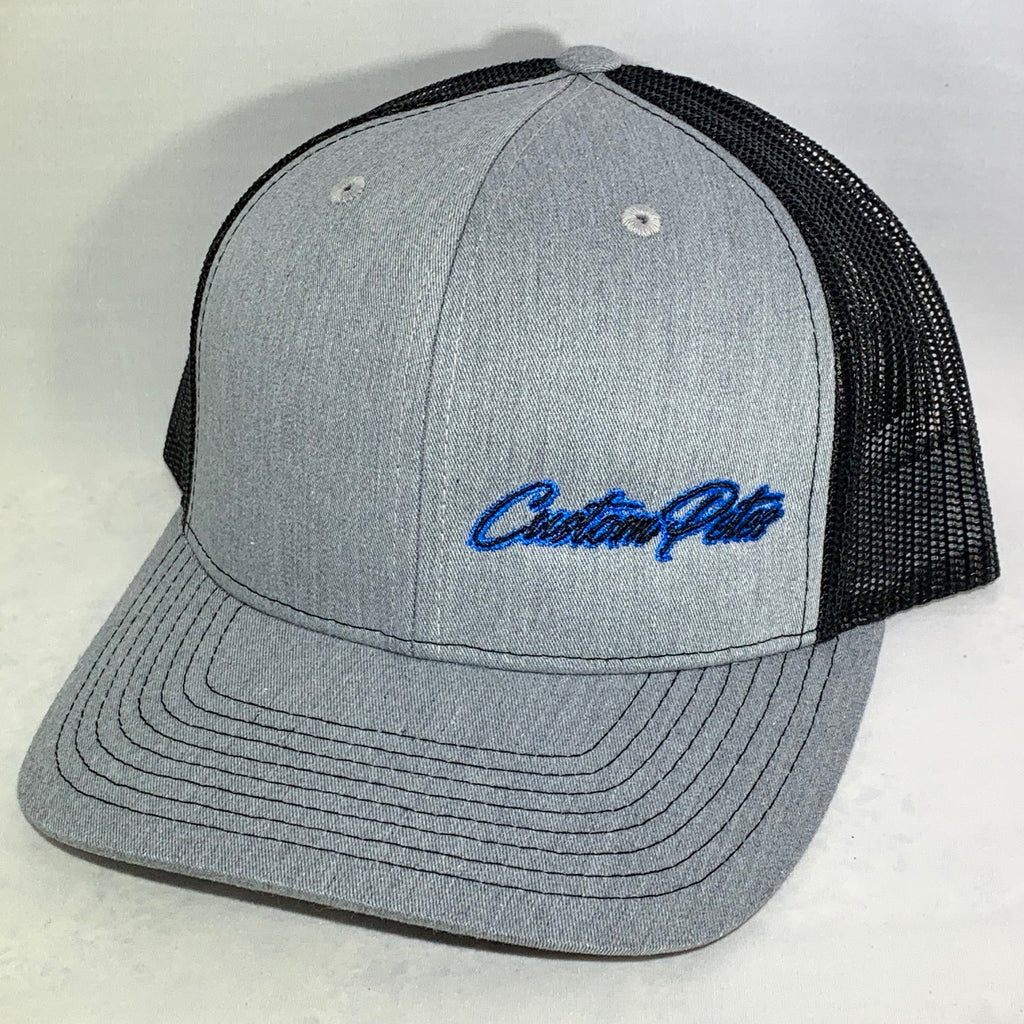 Custom Petes Trucker Hat (Gray/Blue)