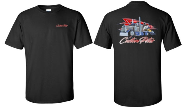 Custom Petes Black T w/ Red Logo