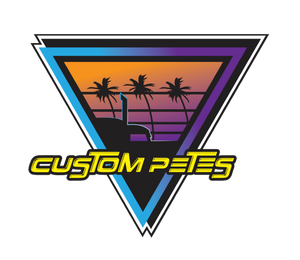 "Custom Petes Triangle 80's Sticker 5"" x 5"""