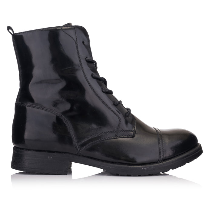 SARAH LACE UP BOOT Black College