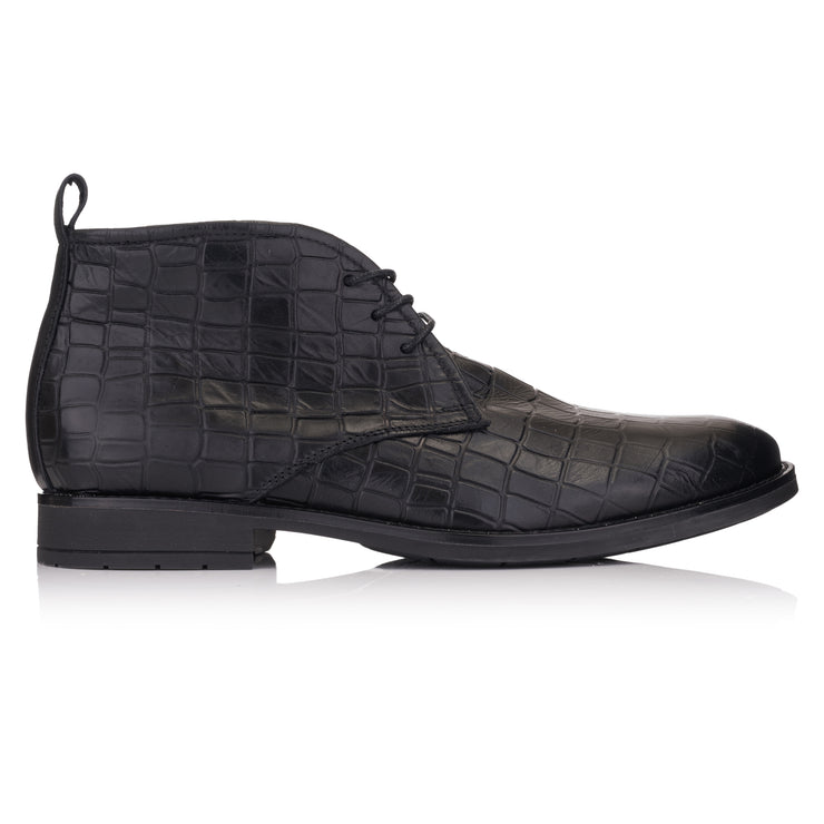ghete negre business piele black coda Omnio Chukka Batavia imagine din lateral