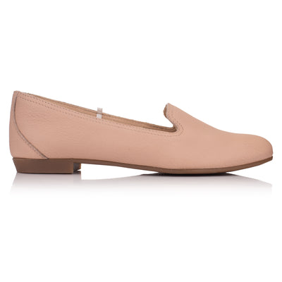 Balerini piele roz deschis casual femei * Omnio Prep Plain Loafer Lt Pink Leather vedere din lateral