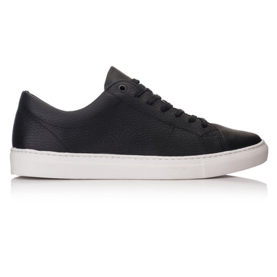 pantofi sport casual sneaker piele negri Omnio Velo Eco Black Leather imagine din lateral