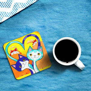 'Sweetheart' Love Cats Coasters