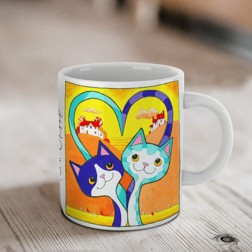 'Sweetheart' Love Cats Ceramic Mug