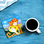 'Cute' Love Cats Coasters