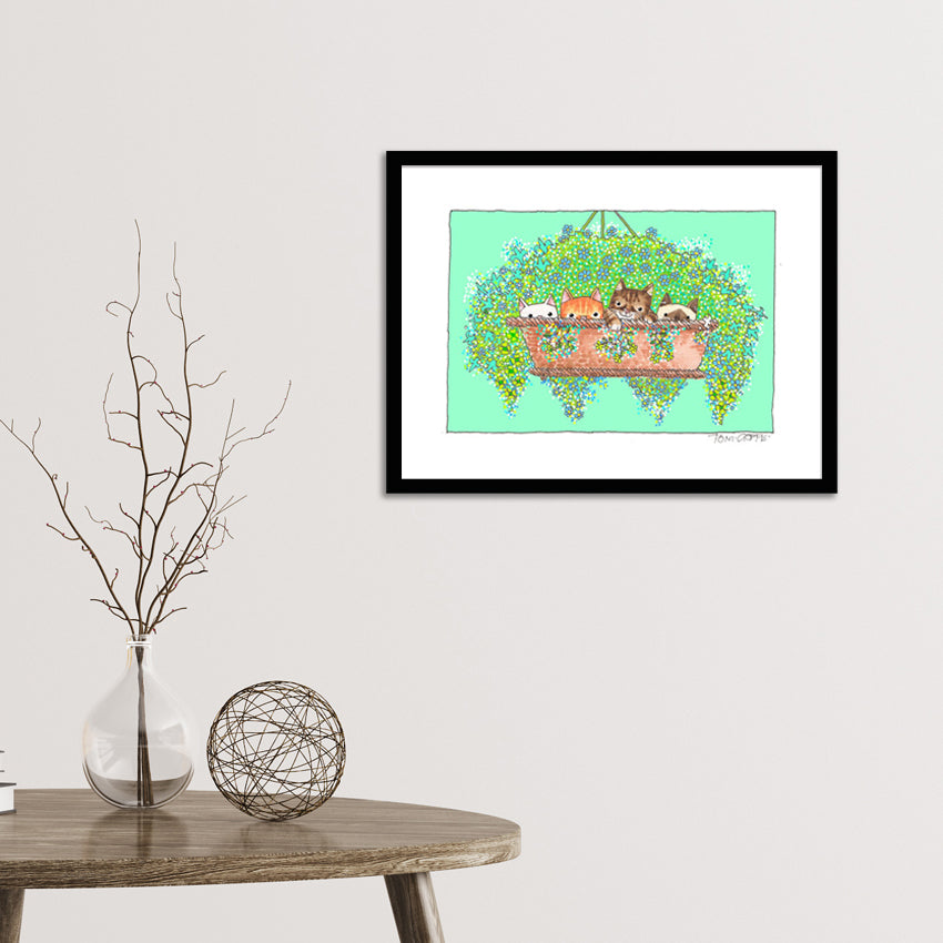 Basket Case Kittens Framed Print