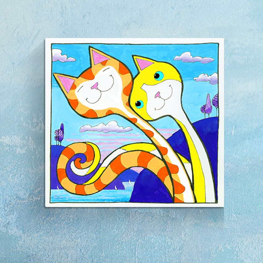 'Appealing' Love Cats Canvas