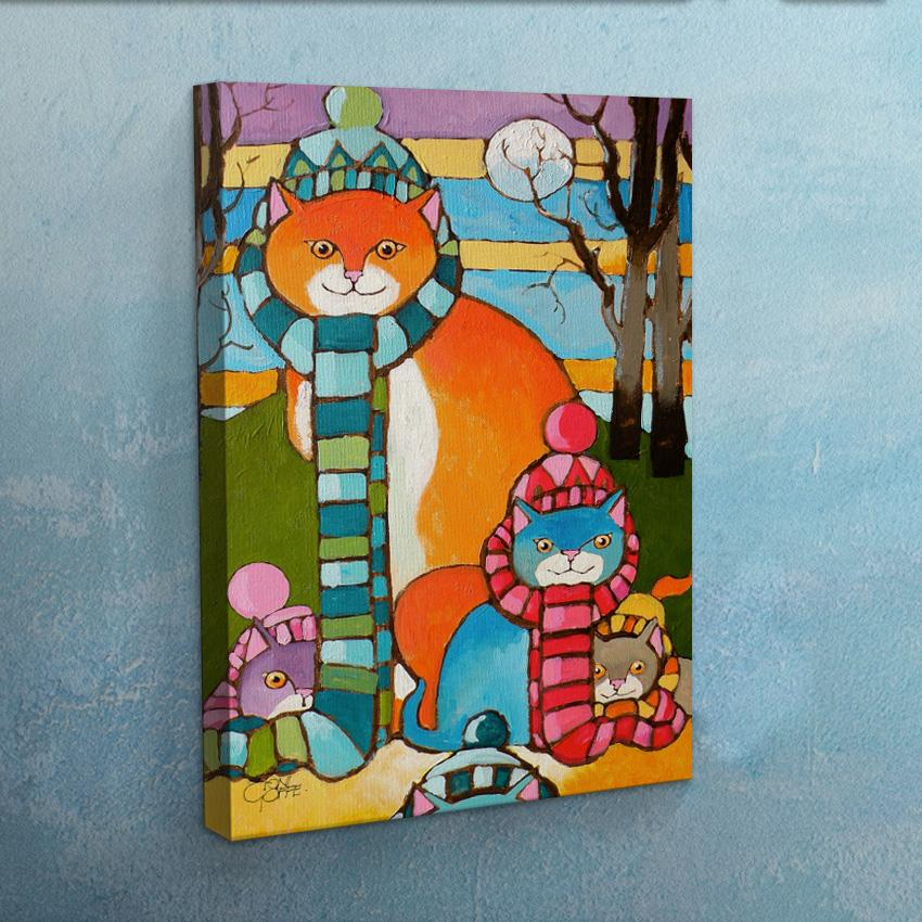 Cool Cats 2 Canvas