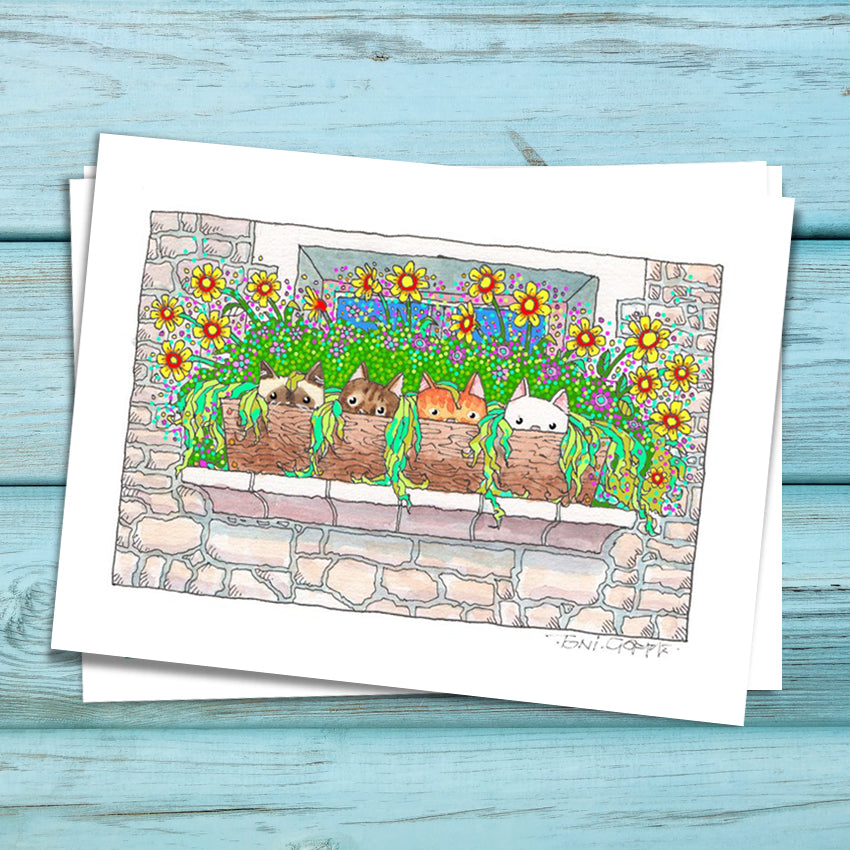 Cottage Kittens Fine Art Print
