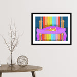 Ginger's Deckchair Stare Framed Print