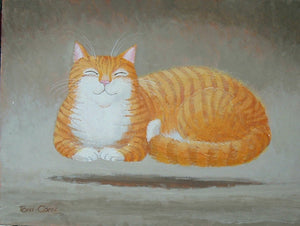 'Ginger Levitating' Original Painting