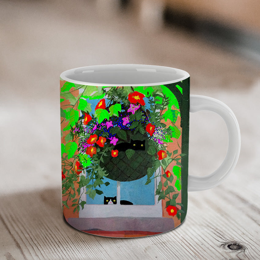 Hanging Basket Ceramic Mug