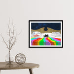 Last One Up Framed Fine Art Print