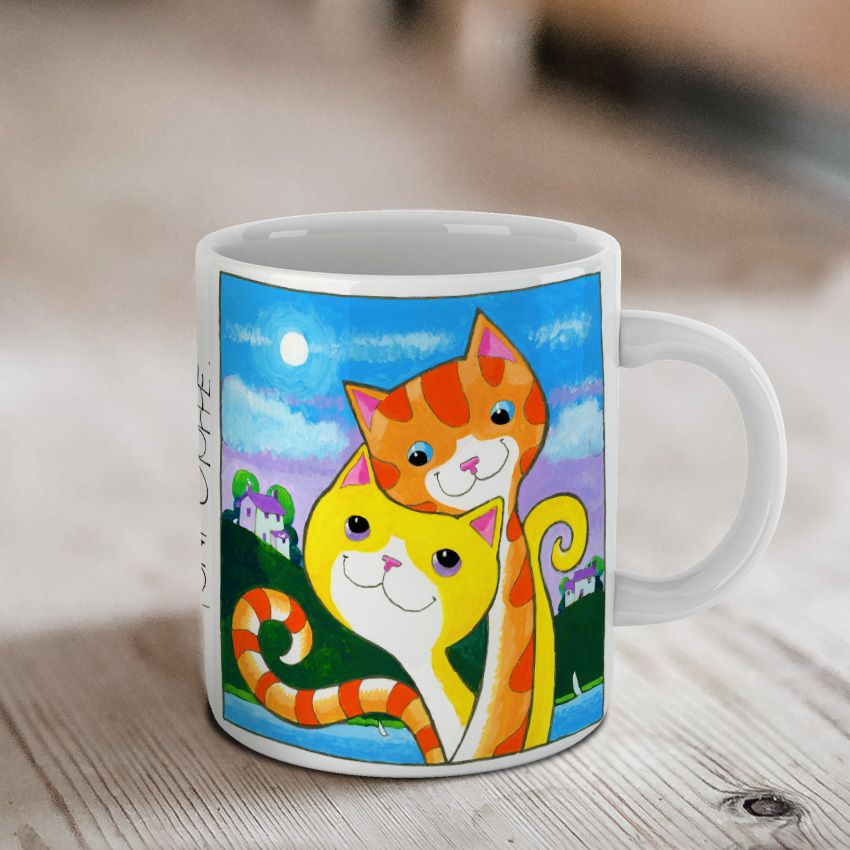 'Cute' Love Cats Ceramic Mug