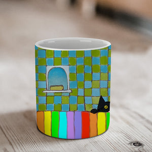 Rainbow Bath Ceramic Mug