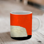 Small Cat in Large Dog's Bed Ceramic Mug