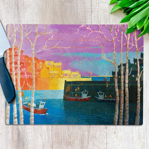 Cornish Harbour Glass Chopping Board