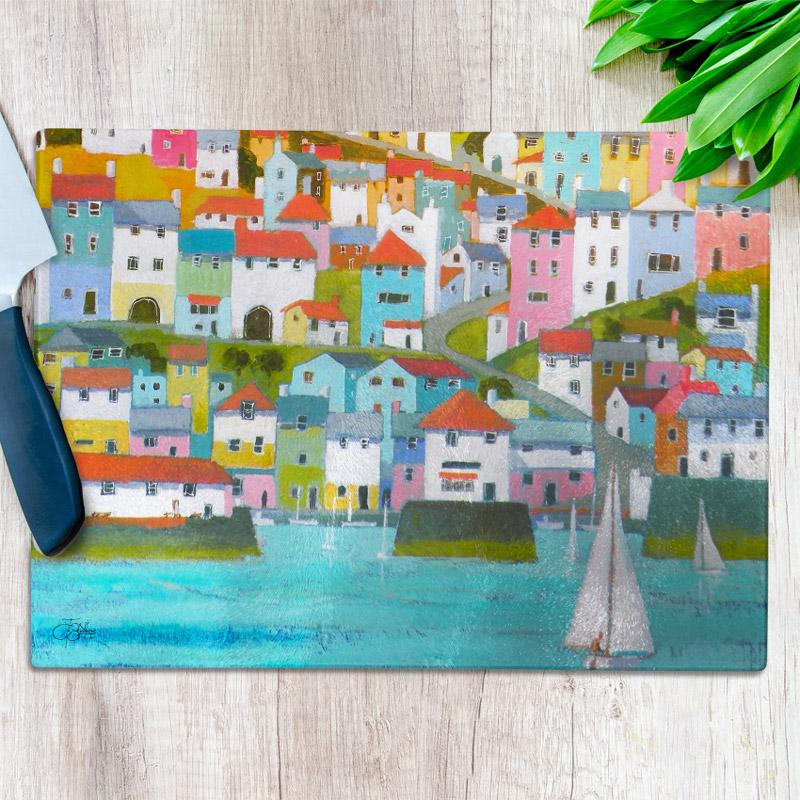 Cornish Port Glass Chopping Board