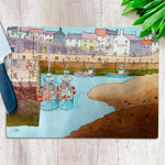 Silted Harbour Glass Chopping Board