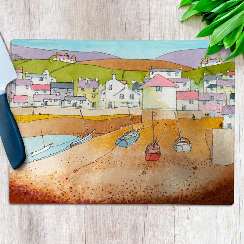 Low Tide Glass Chopping Board