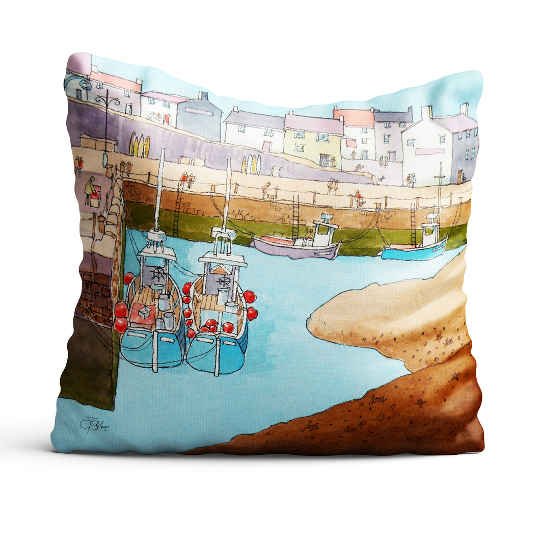 Silted Harbour cushion