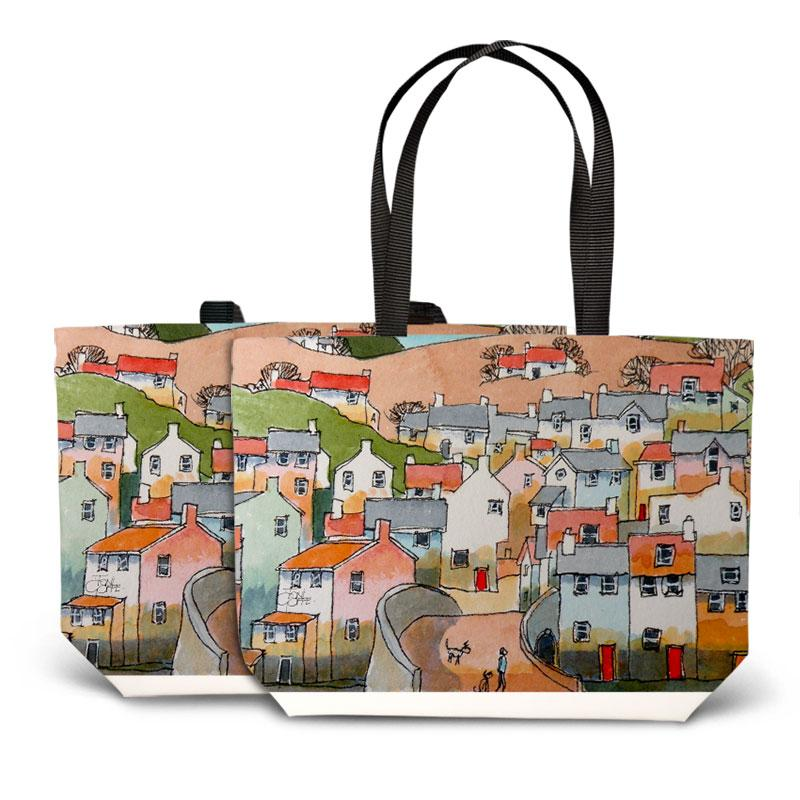 The Morning Dog Walk Tote Bag