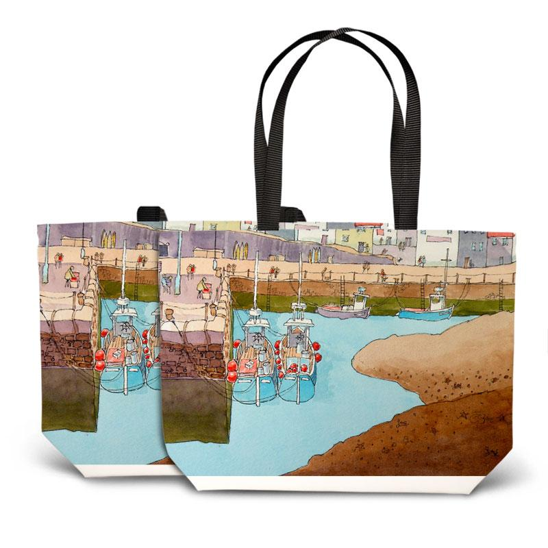 Silted Harbour Tote Bag