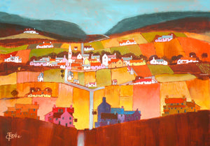 'The Two Pubs' Original Painting