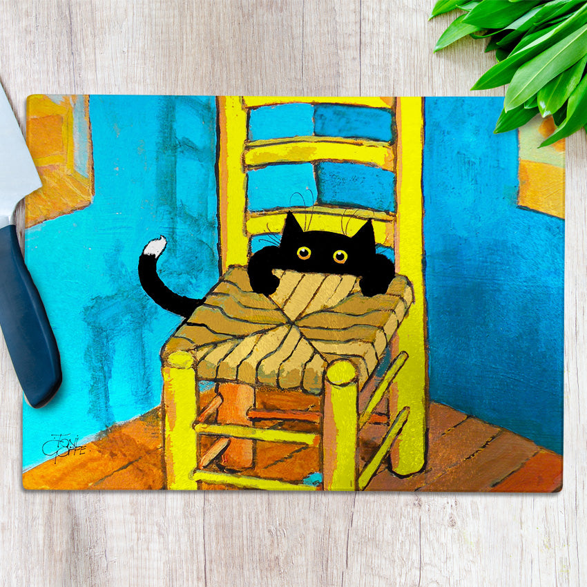 Vincent's New Cat Chopping Board