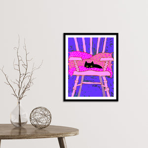 The Cat's Chair Framed Fine Art Print