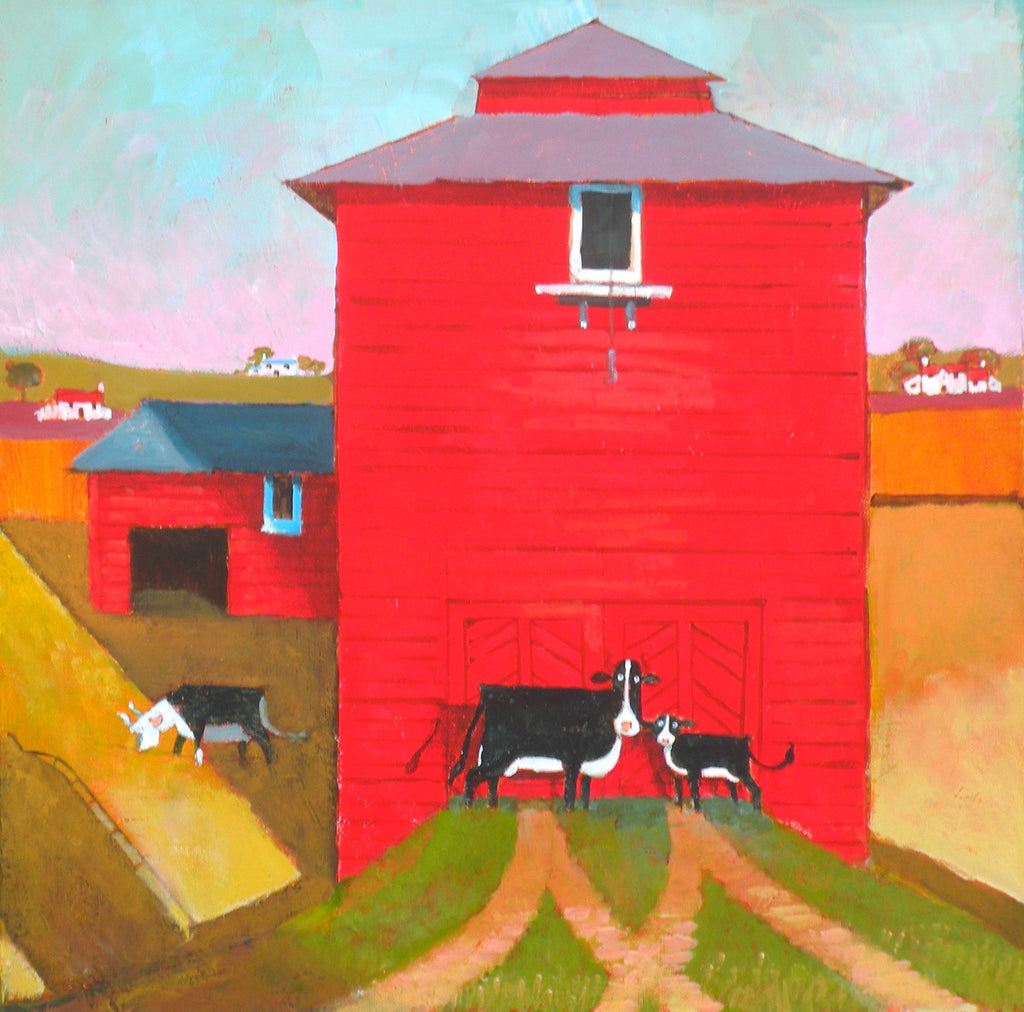 'The Red Barn' Original Painting