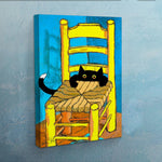 Vincent's New Cat Canvas