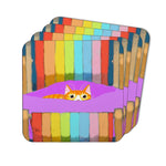 Ginger's Deckchair Stare Coasters