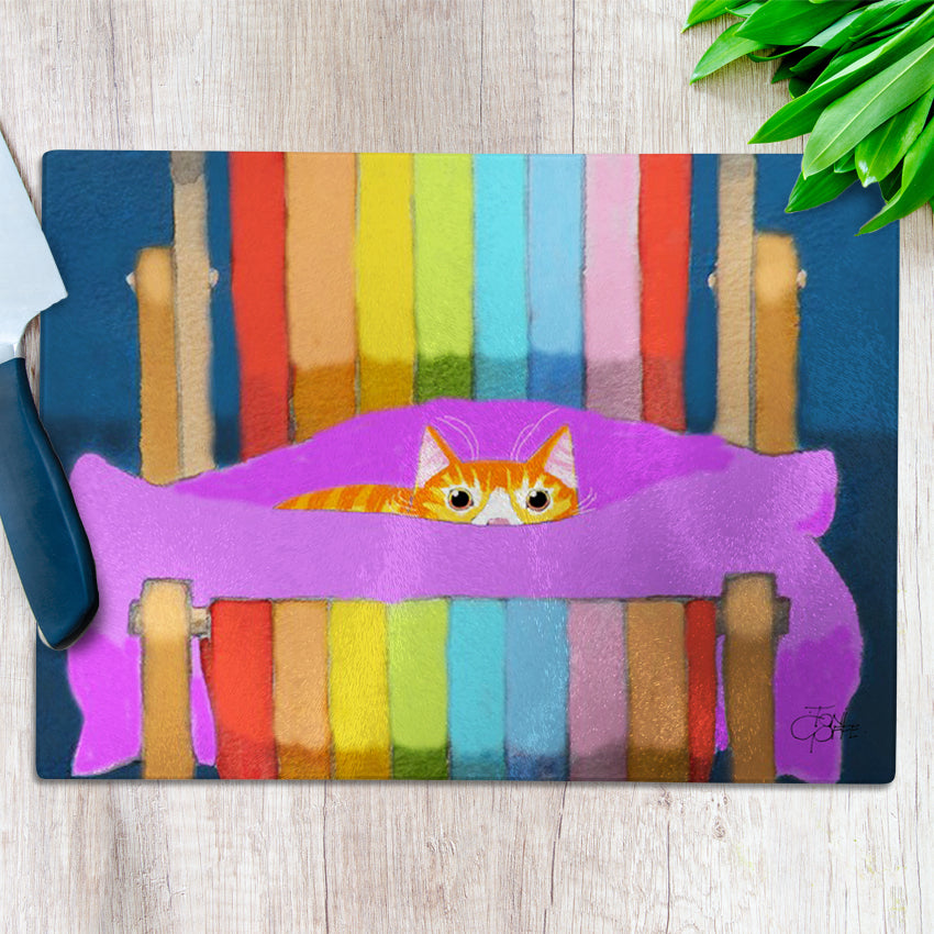 Ginger's Deckchair Stare Chopping Board