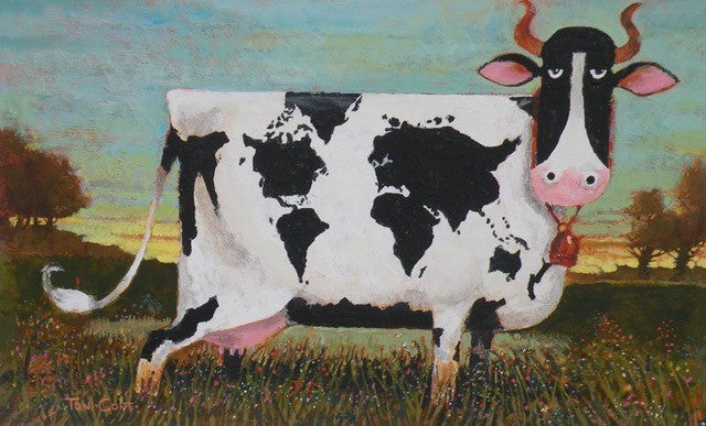'World Cow' Original Painting