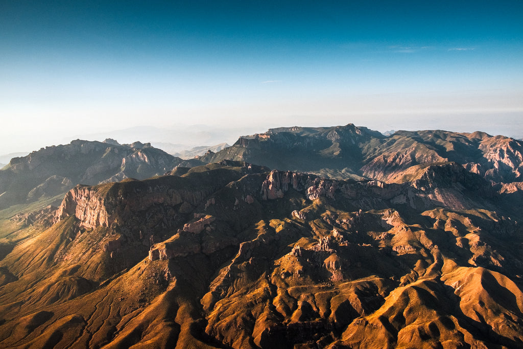 The Chisos at Dawn Up Close
