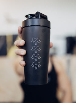 Black 25oz Stainless Steel Shaker Bottle