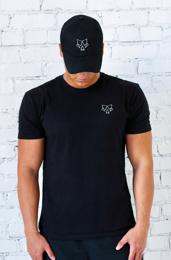 Origin Classic Embroidered Logo Black T-Shirt
