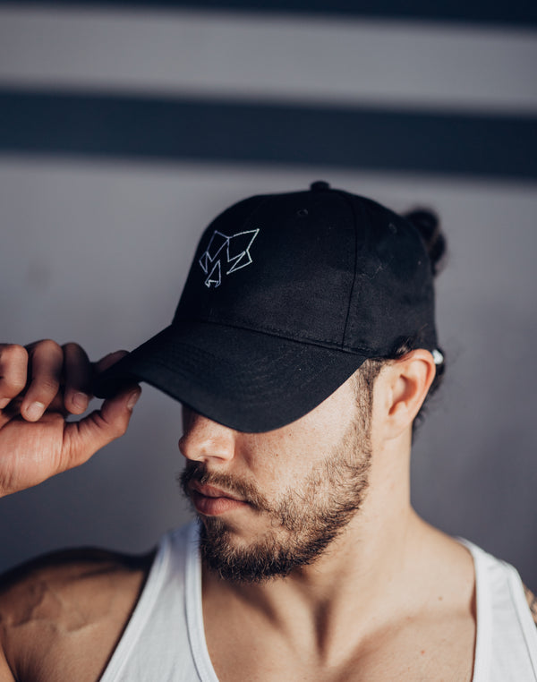 Alpha Theory Black Embroidered logo Hat