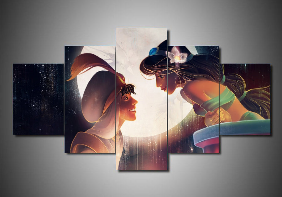 Disney - Aladdin (3 Styles) - 5-Piece Canvas Wall Art