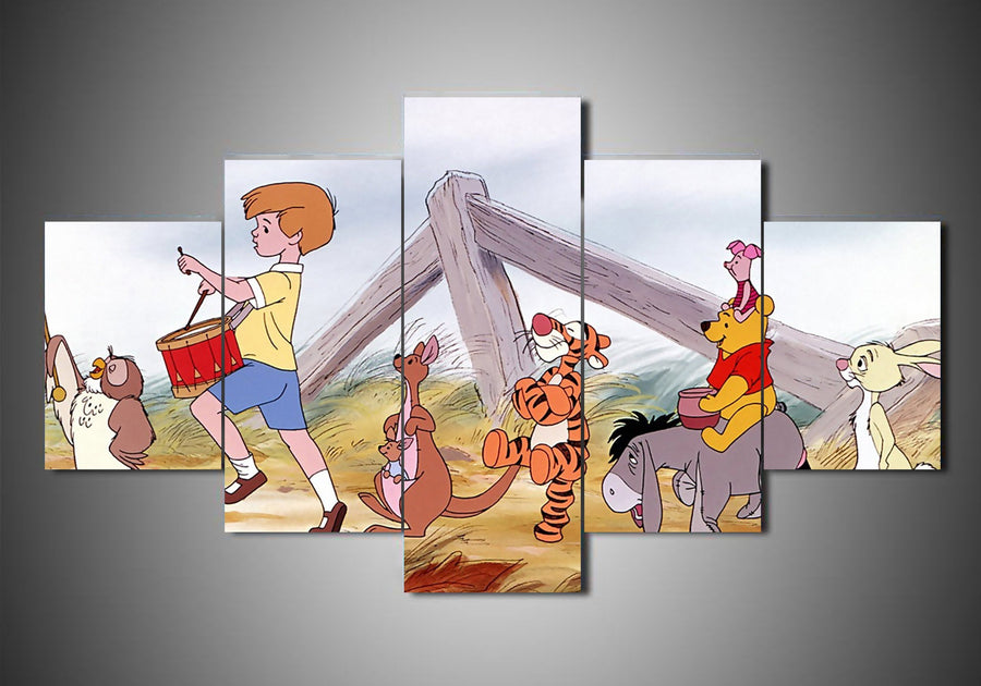 5-Piece Canvas Wall Art - Disney - The Many Adventures of Winnie the Pooh (3 Styles) - TheSevenShop