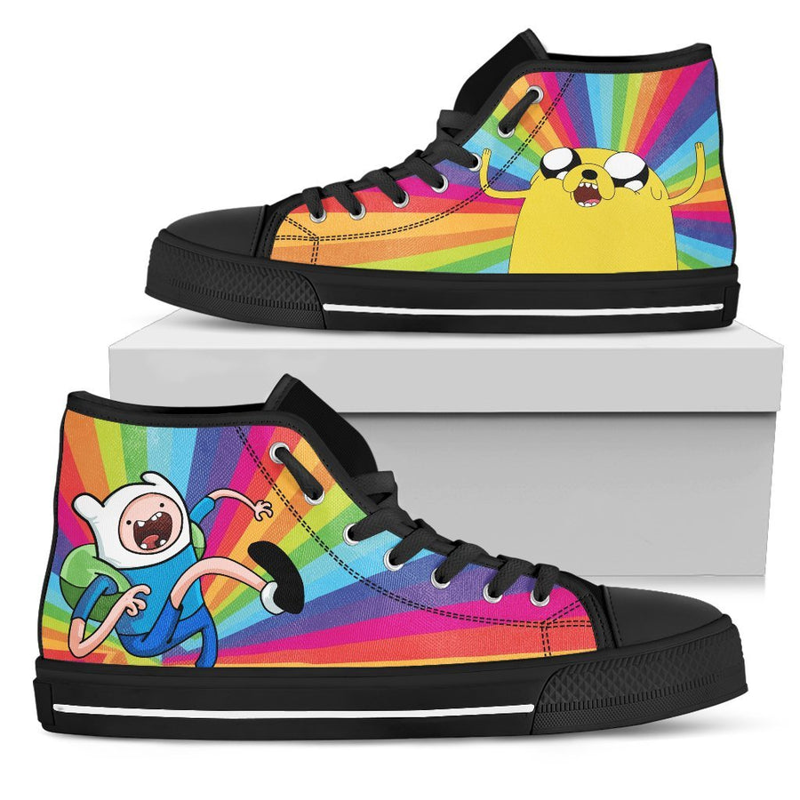 Adventure Time #4 - Canvas Printed Shoes - MyStorify
