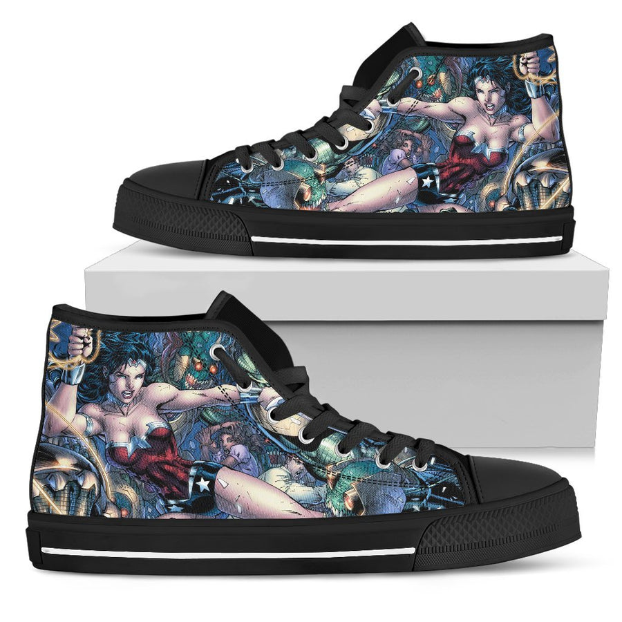 Wonder Woman - Canvas Printed Shoes - MyStorify
