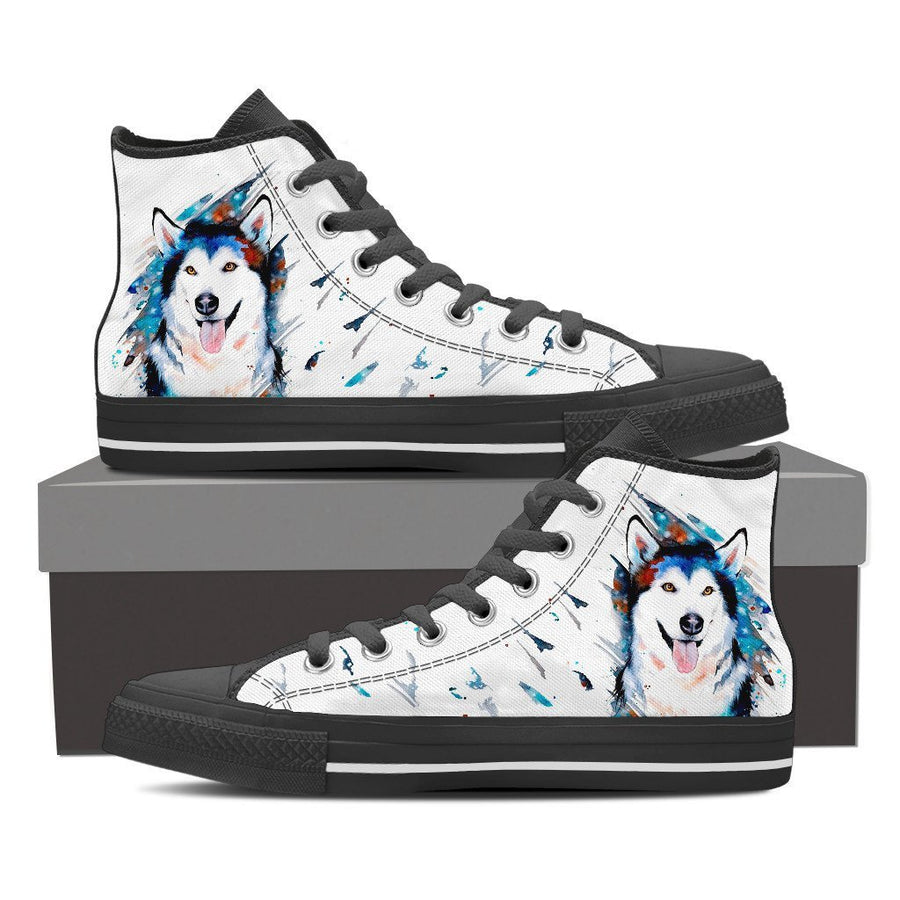 Custom Printed Shoes - Husky Dog #2 - TheSevenShop