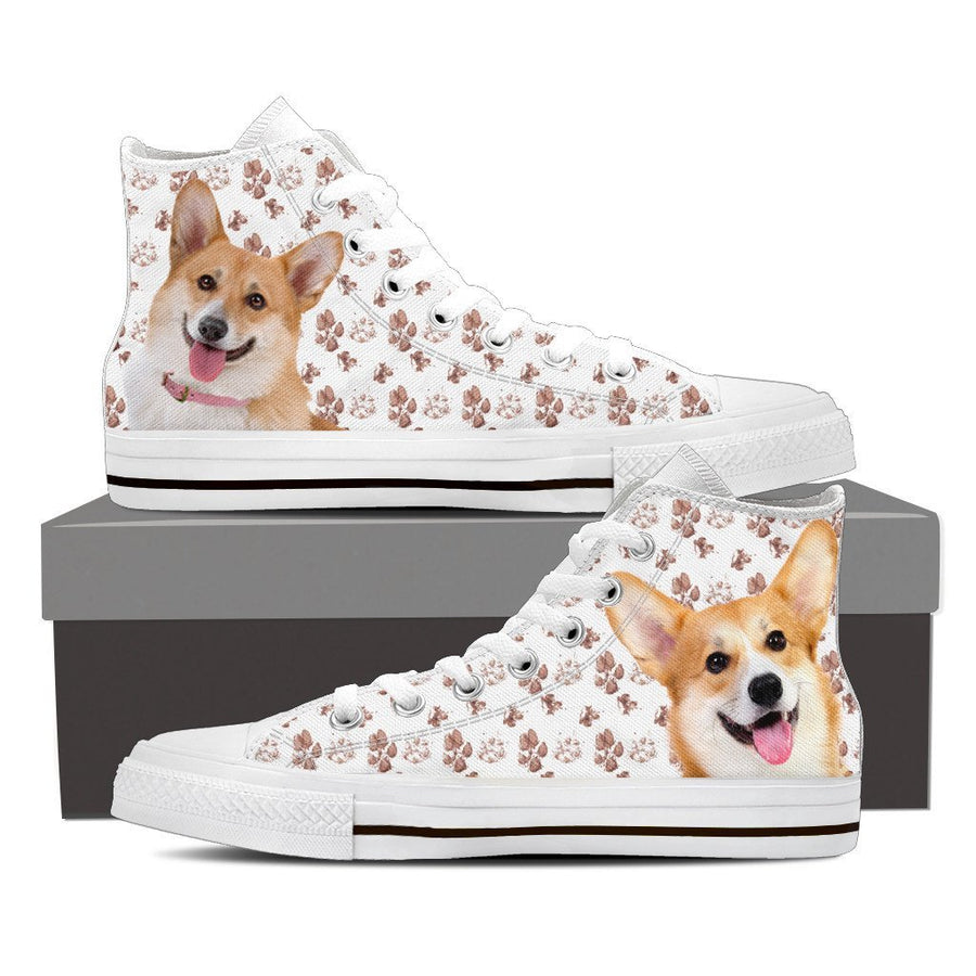 Custom Printed Shoes - Corgi Dog #4 - TheSevenShop