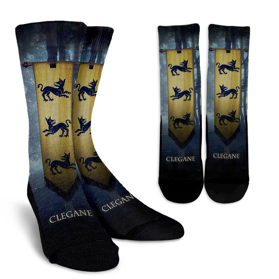 Game of Thrones - House Clegane (2 Styles) - Crew Socks-MyStorify